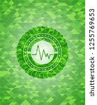 electrocardiogram icon inside... | Shutterstock .eps vector #1255769653