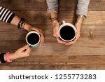 people hangout drinking coffee | Shutterstock . vector #1255773283