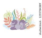 vector illustration of cute... | Shutterstock .eps vector #1255784389