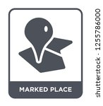 marked place icon vector on... | Shutterstock .eps vector #1255786000