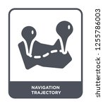 navigation trajectory icon... | Shutterstock .eps vector #1255786003