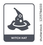 witch hat icon vector on white... | Shutterstock .eps vector #1255786033