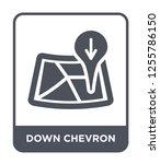 down chevron icon vector on...   Shutterstock .eps vector #1255786150