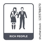 rich people icon vector on... | Shutterstock .eps vector #1255788070