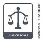 justice scale icon vector on... | Shutterstock .eps vector #1255788109