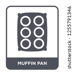 muffin pan icon vector on white ... | Shutterstock .eps vector #1255791346