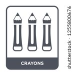 crayons icon vector on white... | Shutterstock .eps vector #1255800676