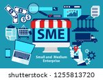 sme  small and medium... | Shutterstock .eps vector #1255813720