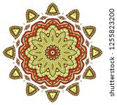 mandala flower decoration  hand ... | Shutterstock .eps vector #1255823200