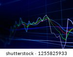 stock exchange market graph on... | Shutterstock . vector #1255825933