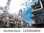 oil and gas industrial oil... | Shutterstock . vector #1255826833