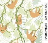 vector seamless pattern... | Shutterstock .eps vector #1255834423