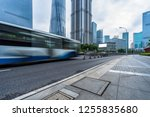 urban city road with motion bus ... | Shutterstock . vector #1255835680