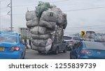 overload truck on the street ...