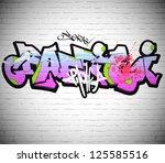 Graffiti Wall Background  Urba...