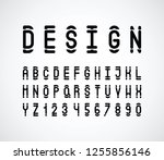 vector of modern abstract font... | Shutterstock .eps vector #1255856146