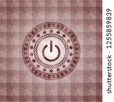 power icon inside red emblem or ... | Shutterstock .eps vector #1255859839
