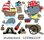 set of sailing equipment with...   Shutterstock .eps vector #1255861219