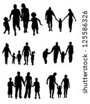 silhouettes of woman  man ... | Shutterstock .eps vector #125586326