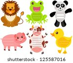 animal vector of blank label ... | Shutterstock .eps vector #125587016