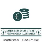money  coins  stateroom vector... | Shutterstock .eps vector #1255874650