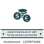 money  coins  stateroom vector... | Shutterstock .eps vector #1255874686