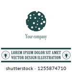 ball with holes logo vector... | Shutterstock .eps vector #1255874710
