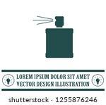 perfume  eau de toilette ... | Shutterstock .eps vector #1255876246