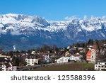 liechtenstein  vaduz  top view | Shutterstock . vector #125588396