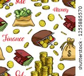 seamless background of coin ...   Shutterstock .eps vector #1255885570