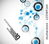 eps10  molecular structure ...   Shutterstock .eps vector #125589164