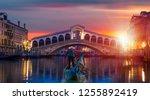 gondola near rialto bridge  ...   Shutterstock . vector #1255892419