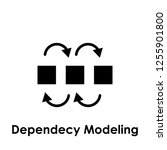 dependency modeling icon. one... | Shutterstock .eps vector #1255901800