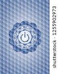 power icon inside blue emblem... | Shutterstock .eps vector #1255902973