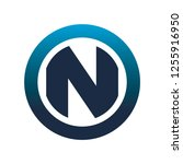 circle n logo | Shutterstock .eps vector #1255916950