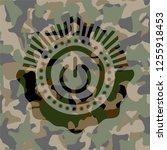 power icon inside camo emblem | Shutterstock .eps vector #1255918453