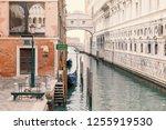 empty gondola station with... | Shutterstock . vector #1255919530