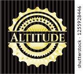 altitude gold badge or emblem | Shutterstock .eps vector #1255928446