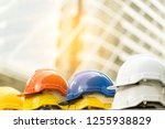 safety first project of workman ... | Shutterstock . vector #1255938829