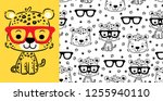seamless pattern vector of cute ... | Shutterstock .eps vector #1255940110