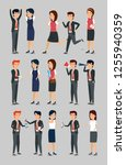 set businesswomen and... | Shutterstock .eps vector #1255940359