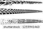 vector print textured tire... | Shutterstock .eps vector #1255941463