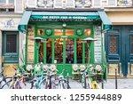 paris  france   april 19  2018  ...   Shutterstock . vector #1255944889