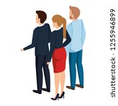 group of business people back... | Shutterstock .eps vector #1255946899