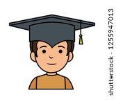 little schoolboy with... | Shutterstock .eps vector #1255947013