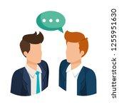 couple of men with speech bubble | Shutterstock .eps vector #1255951630
