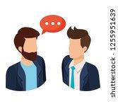 couple of men with speech bubble | Shutterstock .eps vector #1255951639