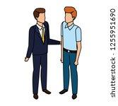 couple of men avatars characters | Shutterstock .eps vector #1255951690