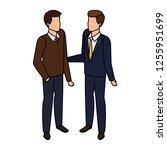couple of men avatars characters | Shutterstock .eps vector #1255951699