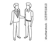 couple of men avatars characters | Shutterstock .eps vector #1255951813
